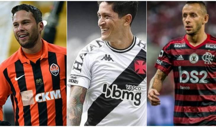 Shakthar Donetsk/Divulgação - Rafael Ribeiro/Divulgação Instagram Oficial do Vasco - Alexandre Vidal/Flamengo