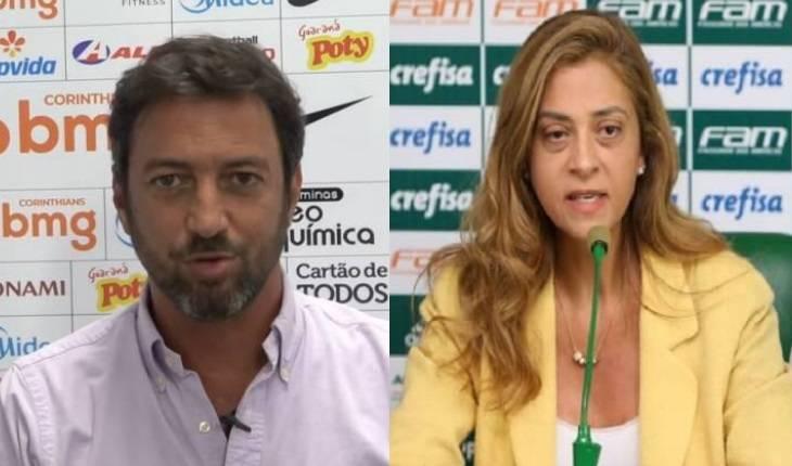 Montagem/CORINTHIANS TV - César Greco/Divulgação Palmeiras