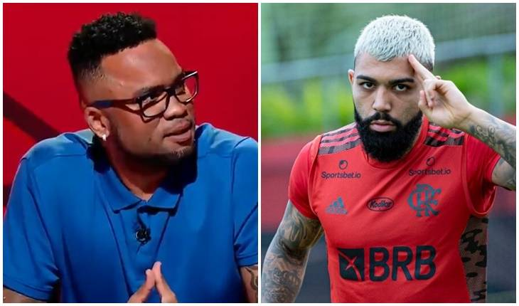 Reprodução SBT - Alexandre Vidal / Flamengo