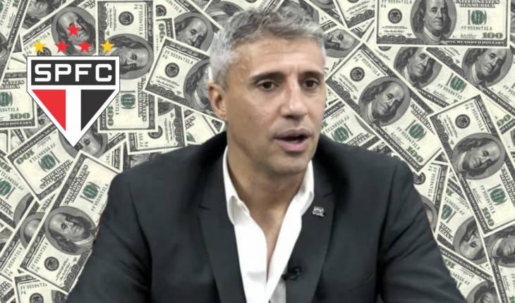 Fundo Dólar - Reprodução/SPFC TV - Montagem Jean Marangoni